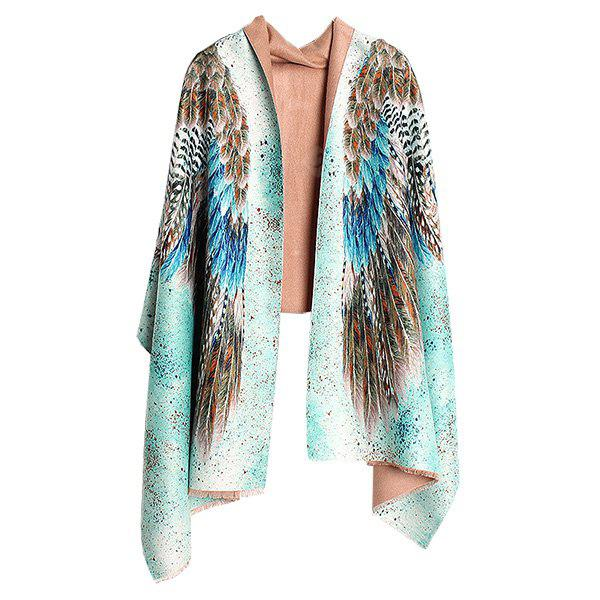 Western Style Thicken Dual-purpose Women Shawl Scarf
