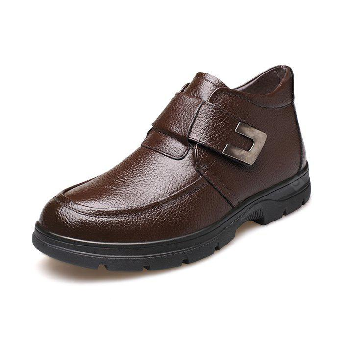 BROWN 44 MUHUISEN Men Business Warmest Ankle-top Leather Boots