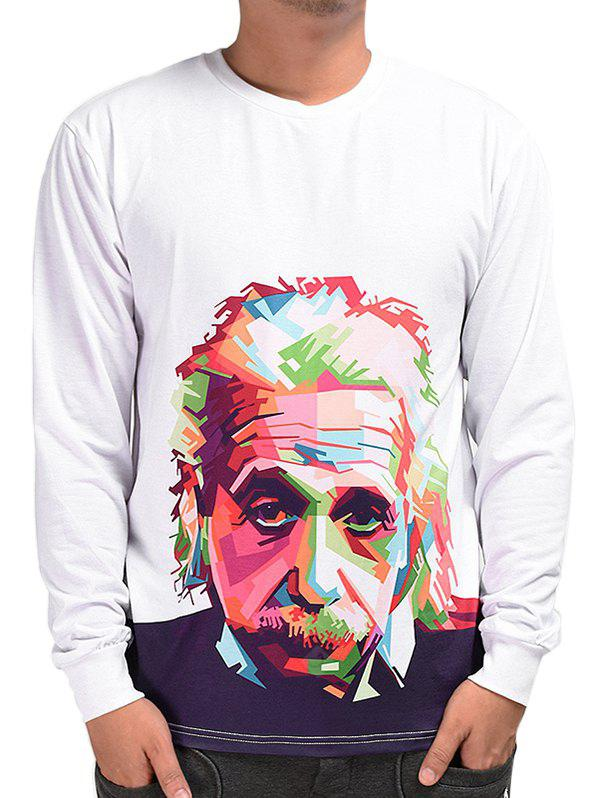Mr.1991INC Miss.GO Spliced Color Character Printing T-shirt for Men