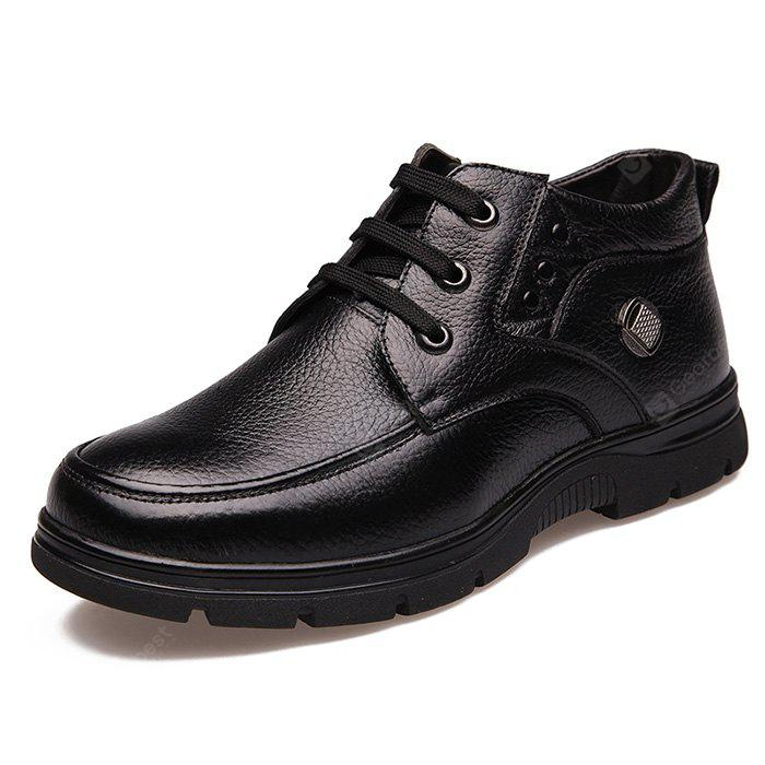 BLACK 48 MUHUISEN Male Business Soft Casual Leather Shoes
