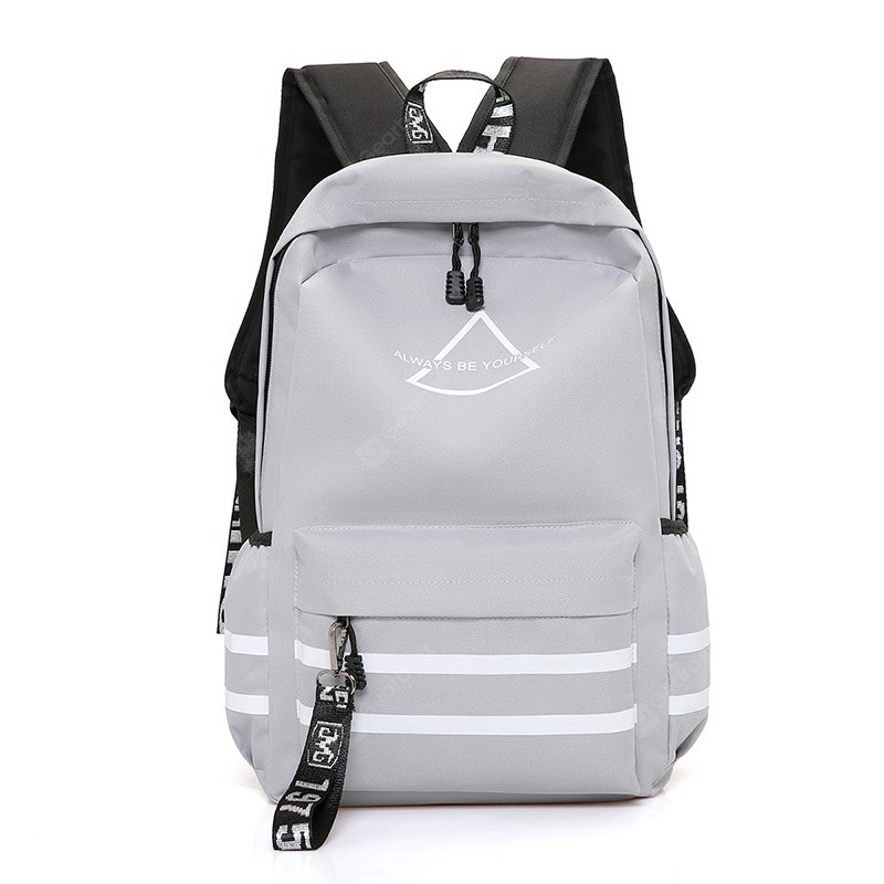 Simple Printed Nylon Sports Backpack