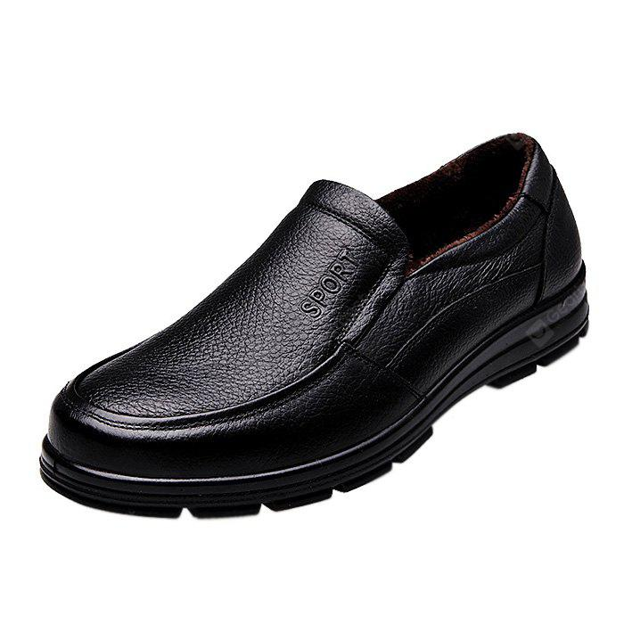 MUHUISEN Business Soft Warmest Elder Men Dress Shoes