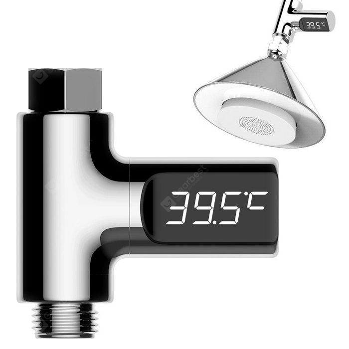 LED Display Water Shower Thermometer - SILVER 1PC