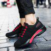 Male Versatile Soft Hiking Casual Athletic Shoes - BLACK RED
