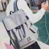 Leisure Nylon Backpack with USB Port Chest Bag Set - GRAY