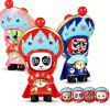 WUIBN Chinese Sichuan Opera Face-changing Doll Key Chain 1pc - COLORMIX