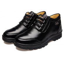 MUHUISEN Men Business Soft Warmest Casual Leather Shoes