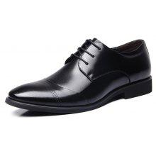 MUHUISEN Men Business Soft Pointed Toe Dress Shoes