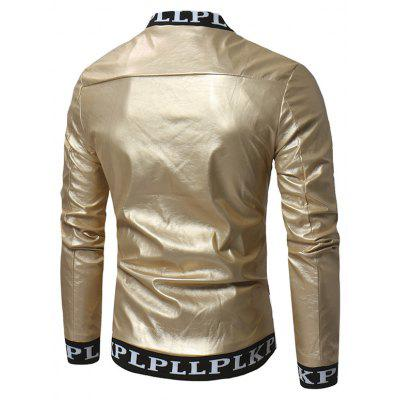 PU Leather Stand-up Collar Zip up Jacket for MenMens Jackets &amp; Coats<br>PU Leather Stand-up Collar Zip up Jacket for Men<br><br>Closure Type: Zipper<br>Clothes Type: Jackets<br>Collar: Stand-Up Collar<br>Embellishment: Others<br>Materials: Polyester, PU<br>Occasion: Daily Use<br>Package Content: 1 x Jacket<br>Package Dimension: 40.00 x 30.00 x 4.00 cm / 15.75 x 11.81 x 1.57 inches<br>Package weight: 0.6200 kg<br>Pattern Type: Solid<br>Product weight: 0.6000 kg<br>Seasons: Autumn<br>Shirt Length: Regular<br>Sleeve Length: Long Sleeves<br>Style: Casual, Fashion<br>Thickness: Medium thickness