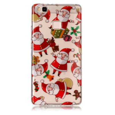 Buy Christmas Pattern Theme HD TPU Soft Case for HUAWEI P9 Lite COLORMIX for $3.17 in GearBest store