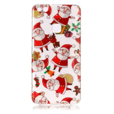 Buy COLORMIX Christmas Pattern Theme HD TPU Soft Case for HUAWEI P10 Lite for $2.88 in GearBest store