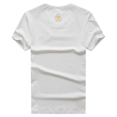 NIAN JEEP Men\s Casual Embroidery Round Collar T-shirtMens Short Sleeve Tees<br>NIAN JEEP Men\s Casual Embroidery Round Collar T-shirt<br><br>Brand: NIANJEEP<br>Neckline: Round Collar<br>Package Content: 1 x T-shirt<br>Package size: 35.00 x 25.00 x 2.00 cm / 13.78 x 9.84 x 0.79 inches<br>Package weight: 0.5200 kg<br>Product weight: 0.5000 kg<br>Season: Autumn, Summer<br>Sleeve Length: Short Sleeves