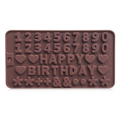 Creative Birthday Cake Mold Numbers Pattern Bakery Tool 2PCS