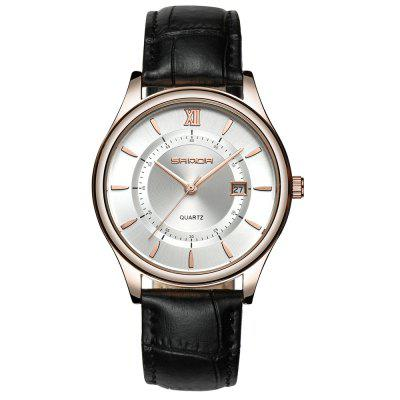 Sanda 204 Casual Stylish Leather Band Men Watch