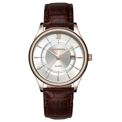 Sanda 204 Casual Casual Leather Leather Watch