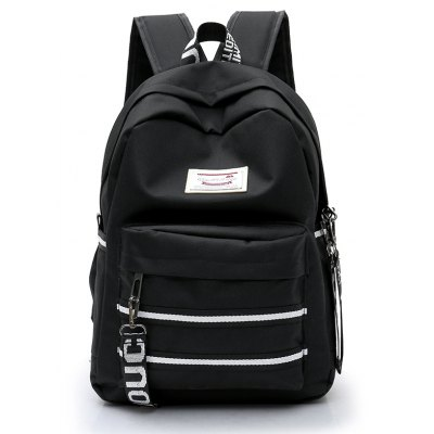Buy BLACK Women Trendy Nylon Laptop Backpack for $14.50 in GearBest store