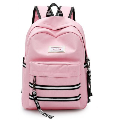 Buy PINK Women Trendy Nylon Laptop Backpack for $14.50 in GearBest store