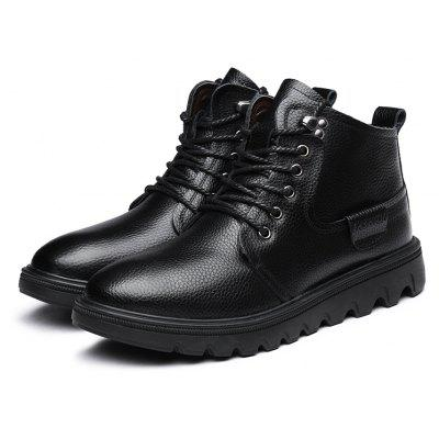 Buy BLACK 38 MUHUISEN Men Classic Warmest High-top Martin Boots for $51.24 in GearBest store