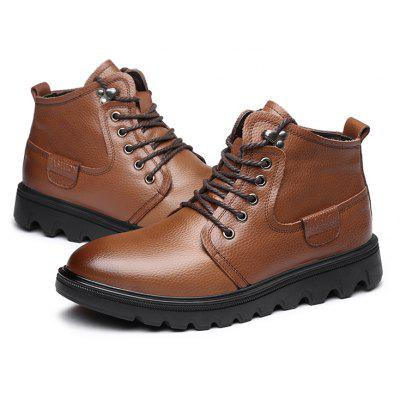 Buy BROWN 42 MUHUISEN Men Classic Warmest High-top Martin Boots for $51.24 in GearBest store