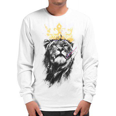 Mr.1991INC Miss.GO männliche modische kreative Lion Printing T-shirt