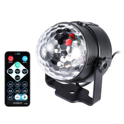 YouOKLight 3W RGB Mini Portable 3LED Stage Magic UV Light Sound Active LED Rotating Magic Ball Lamp for KTV Party Disco