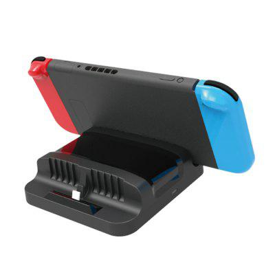 DOBE Dual Charging Dock for N-switch ConsoleGame Accessories<br>DOBE Dual Charging Dock for N-switch Console<br><br>Brands: DOBE<br>Color: Black<br>Compatible with: Nintendo Switch<br>Game Accessories Type: Charging Stand<br>Material: ABS<br>Package Contents: 1 x Charging Dock, 1 x English User Manual<br>Package size: 14.00 x 13.20 x 4.20 cm / 5.51 x 5.2 x 1.65 inches<br>Package weight: 0.1860 kg<br>Product size: 13.50 x 12.80 x 3.85 cm / 5.31 x 5.04 x 1.52 inches<br>Product weight: 0.1320 kg