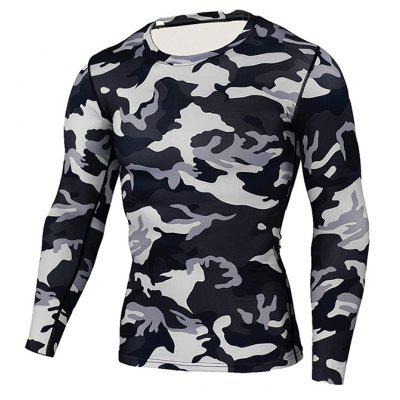 Polyester Fiber Quick Dry Camouflage Running Tee CorsetWeight Lifting Clothes<br>Polyester Fiber Quick Dry Camouflage Running Tee Corset<br><br>Features: Breathable, High elasticity, Quick Dry<br>Gender: Men<br>Material: Polyester<br>Package Content: 1 x Tee, 1 x Package Bag<br>Package size: 35.00 x 25.00 x 2.00 cm / 13.78 x 9.84 x 0.79 inches<br>Package weight: 0.2200 kg<br>Product weight: 0.2000 kg<br>Size: 2XL,3XL,L,M,S,XL<br>Types: Long Sleeves