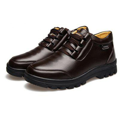 Buy BROWN 38 MUHUISEN Men Business Soft Warmest Casual Leather Shoes for $44.93 in GearBest store