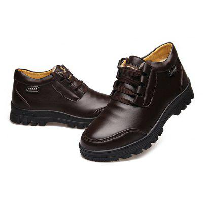 MUHUISEN Men Business Soft Warmest Casual Leather ShoesCasual Shoes<br>MUHUISEN Men Business Soft Warmest Casual Leather Shoes<br><br>Brand: MUHUISEN<br>Closure Type: Lace-Up<br>Contents: 1 x Pair of Shoes, 1 x Box<br>Function: Slip Resistant<br>Lining Material: Velvet<br>Materials: Rubber, Velvet, PU<br>Occasion: Tea Party, Shopping, Party, Office, Holiday, Formal, Dress, Casual, Daily<br>Outsole Material: Rubber<br>Package Size ( L x W x H ): 32.00 x 16.00 x 12.00 cm / 12.6 x 6.3 x 4.72 inches<br>Package Weights: 1.20kg<br>Pattern Type: Solid<br>Seasons: Autumn,Winter<br>Style: Modern, Leisure, Formal, Fashion, Comfortable, Casual, Business<br>Toe Shape: Round Toe<br>Type: Casual Leather Shoes<br>Upper Material: PU