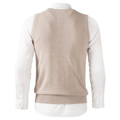 V-neck Fitted Cotton Knitted VestMens Sweaters &amp; Cardigans<br>V-neck Fitted Cotton Knitted Vest<br><br>Material: Cotton<br>Occasion: Going Out, Daily Use, Casual<br>Package Contents: 1 x Vest<br>Package size: 40.00 x 30.00 x 2.50 cm / 15.75 x 11.81 x 0.98 inches<br>Package weight: 0.3000 kg<br>Pattern: Solid Color<br>Product weight: 0.2800 kg<br>Style: Casual, Brief