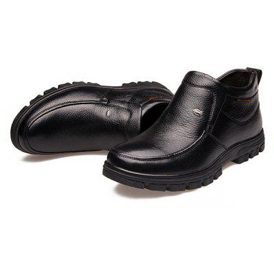 MUHUISEN Business Men Ankle-top Warmest Dress ShoesFormal Shoes<br>MUHUISEN Business Men Ankle-top Warmest Dress Shoes<br><br>Brand: MUHUISEN<br>Closure Type: Slip-On<br>Contents: 1 x Pair of Shoes, 1 x Box<br>Function: Slip Resistant<br>Lining Material: Velvet<br>Materials: Rubber, Velvet, Leather<br>Occasion: Tea Party, Shopping, Party, Office, Formal, Dress, Casual, Daily<br>Outsole Material: Rubber<br>Package Size ( L x W x H ): 32.00 x 16.00 x 12.00 cm / 12.6 x 6.3 x 4.72 inches<br>Package Weights: 1.20kg<br>Pattern Type: Solid<br>Seasons: Autumn,Winter<br>Style: Modern, Leisure, Formal, Fashion, Comfortable, Casual, Business<br>Toe Shape: Round Toe<br>Type: Casual Leather Shoes<br>Upper Material: Leather