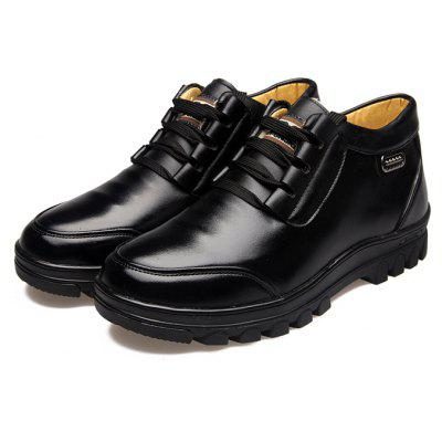 Buy BLACK 38 MUHUISEN Men Business Soft Warmest Casual Leather Shoes for $44.93 in GearBest store