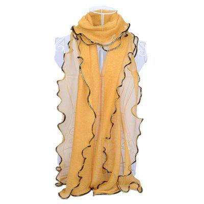 Gold Thread Edge Thin Silk Scarf for WomenWomens Scarves<br>Gold Thread Edge Thin Silk Scarf for Women<br><br>Material: Gold Thread, Silk<br>Package Content: 1 x Scarf<br>Package Dimension: 45.00 x 30.00 x 1.00 cm / 17.72 x 11.81 x 0.39 inches<br>Package weight: 0.0700 kg<br>Product weight: 0.0650 kg<br>Season: Winter, Spring, Fall<br>Style: Casual