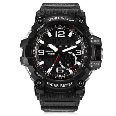 Sanda 740 5321 Luminous Double Movement Men WatchMens Watches<br>Sanda 740 5321 Luminous Double Movement Men Watch<br><br>Band material: Plastic<br>Band size: 25 x 2.2cm<br>Brand: Sanda<br>Case material: Plastic<br>Clasp type: Pin buckle<br>Dial size: 5.5 x 5.5 x 1.6cm<br>Movement type: Quartz + digital watch<br>Package Contents: 1 x Watch, 1 x Watch Box<br>Package size (L x W x H): 28.00 x 8.00 x 3.50 cm / 11.02 x 3.15 x 1.38 inches<br>Package weight: 0.1050 kg<br>Product size (L x W x H): 25.00 x 5.50 x 1.60 cm / 9.84 x 2.17 x 0.63 inches<br>Product weight: 0.0750 kg<br>Shape of the dial: Round<br>Watch mirror: Mineral glass<br>Watch style: Fashion, Outdoor Sports, Business, Casual<br>Watches categories: Men