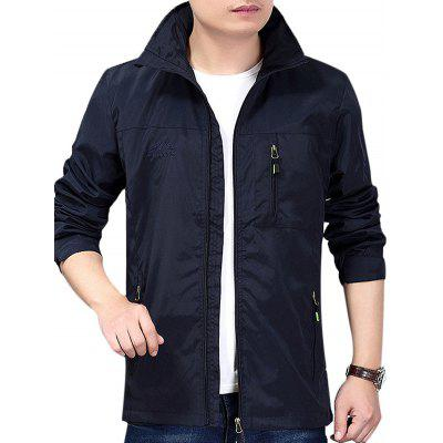 NIAN JEEP Male Trendy Waterproof Breathable JacketMens Jackets &amp; Coats<br>NIAN JEEP Male Trendy Waterproof Breathable Jacket<br><br>Brand: NIANJEEP<br>Closure Type: Zipper<br>Clothes Type: Jackets<br>Collar: Hooded<br>Embellishment: Others<br>Materials: Cotton, Polyester<br>Occasion: Daily Use<br>Package Content: 1 x Jacket<br>Package Dimension: 35.00 x 25.00 x 2.00 cm / 13.78 x 9.84 x 0.79 inches<br>Package weight: 0.5200 kg<br>Pattern Type: Solid<br>Product weight: 0.5000 kg<br>Seasons: Autumn,Spring<br>Shirt Length: Regular<br>Sleeve Length: Long Sleeves<br>Style: Fashion, Casual<br>Thickness: Medium thickness