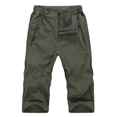 NIANJEEP Elastic Loose Breathable Capri Pants for Men