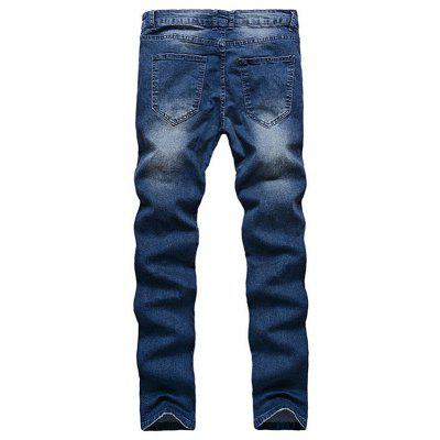 Trendy Handsome Slim Ripped Jeans for MenMens Pants<br>Trendy Handsome Slim Ripped Jeans for Men<br><br>Package Contents: 1 x Jeans<br>Package size: 20.00 x 30.00 x 1.00 cm / 7.87 x 11.81 x 0.39 inches<br>Package weight: 0.5500 kg<br>Product weight: 0.5000 kg