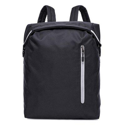 Buy BLACK Trendy Solid Color Water-resistant Nylon Backpack for $24.30 in GearBest store