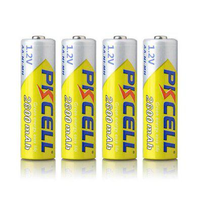 PKCELL 2600mAh 1.2V AA Ni-MH Rechargeable Battery 4PCS