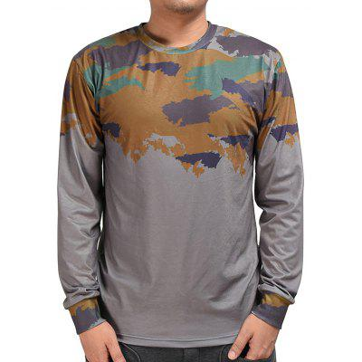Mr.1991INC Miss.GO Male Camouflage Long Sleeves T-shirt