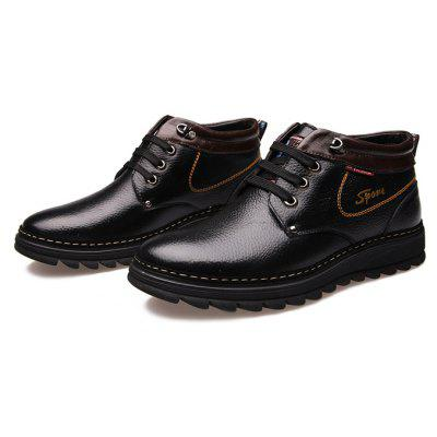 MUHUISEN Men Soft Padded-collar Warmest Dress ShoesFormal Shoes<br>MUHUISEN Men Soft Padded-collar Warmest Dress Shoes<br><br>Brand: MUHUISEN<br>Closure Type: Lace-Up<br>Contents: 1 x Pair of Shoes, 1 x Box<br>Function: Slip Resistant<br>Lining Material: Plush<br>Materials: Microfiber Leather, Plush, Rubber, Genuine Leather<br>Occasion: Tea Party, Shopping, Party, Office, Holiday, Formal, Dress, Casual, Daily<br>Outsole Material: Rubber<br>Package Size ( L x W x H ): 32.00 x 16.00 x 12.00 cm / 12.6 x 6.3 x 4.72 inches<br>Package weight: 1.2000 kg<br>Pattern Type: Solid<br>Product weight: 0.9000 kg<br>Seasons: Autumn,Winter<br>Style: Business, Casual, Comfortable, Fashion, Formal, Leisure, Modern<br>Toe Shape: Pointed Toe<br>Type: Casual Leather Shoes<br>Upper Material: Genuine Leather,Microfiber Leather