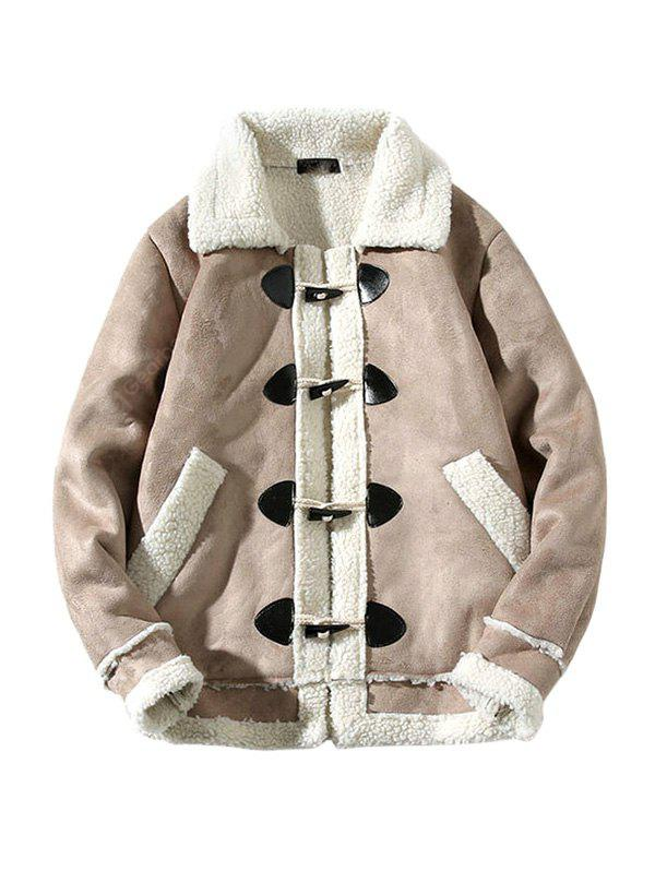 Hombre Cool Trendy Simple Turn-down Collar empalmado Parkas