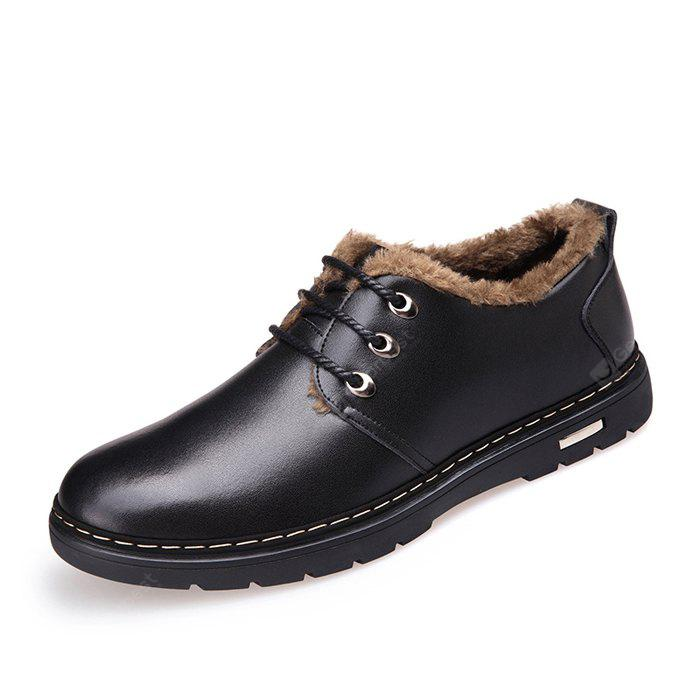 MUHUISEN Men Classic Soft Warmest Dress Shoes