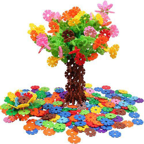 Blocs de Construction en Plastique de Flocon de Neige 500pcs Jouets de Construction