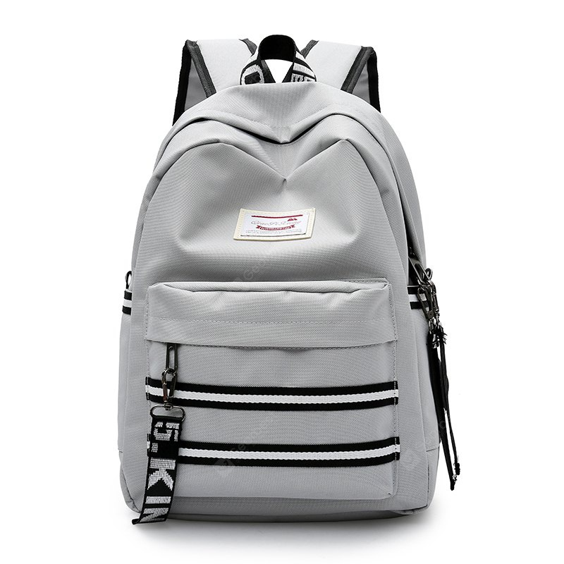 GRAY Women Trendy Nylon Laptop Backpack