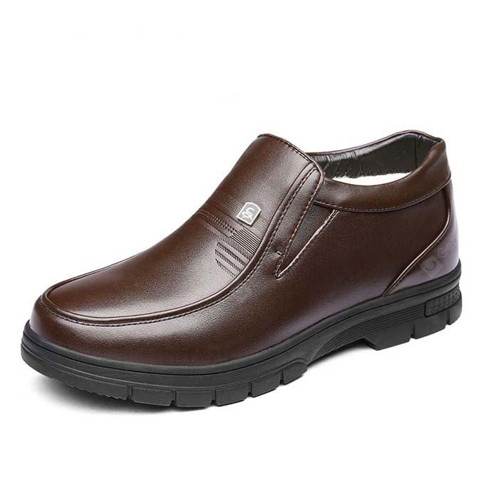 MUHUISEN Elder Men Soft Non-slip Padded-ankle Boots clearance online official site authentic cheap online low price fee shipping for sale browse online reliable cheap price P0nV16V3lK