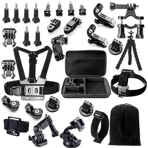 BLACK 32-in-1 Universal Action Camera Accessory Kit