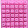 Creative Cake Mold English Letters Numbers Lovely Bakery Tool - PINK
