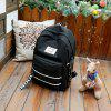 Women Trendy Nylon Laptop Backpack - BLACK