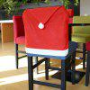 Yeduo Hort Santa Claus Hat Chair Covers Christmas Dinner Table Party - RED